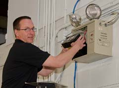 Keane Technicians service and inspect the emergency light units at your facility.