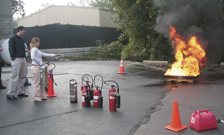 Keane Fire and Safety fire extinguisher training